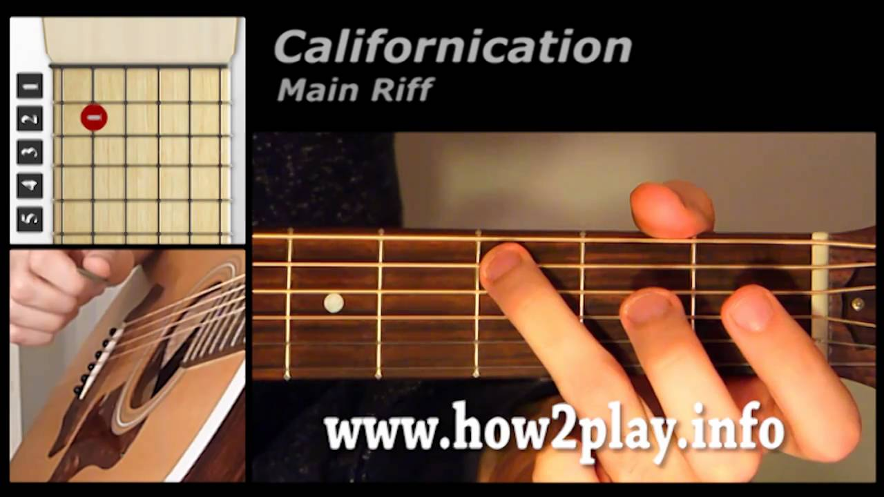 Californication Guitar Lesson How To Play Californication Youtube