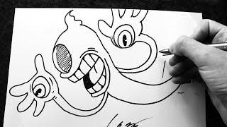 Como Desenhar Blind Specter Boss [Cuphead Railroad Wrath] - (How to Draw B. Specter) - OLD C. #46