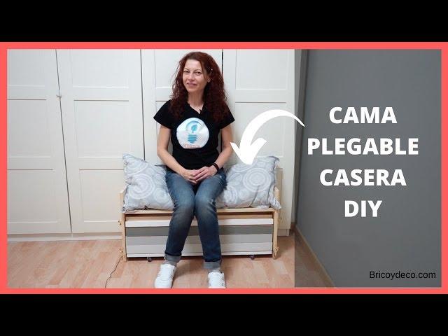 CAMA PLEGABLE casera DIY  con PASO A PASO para hacer tú - Bricolaje con BRICOYDECO