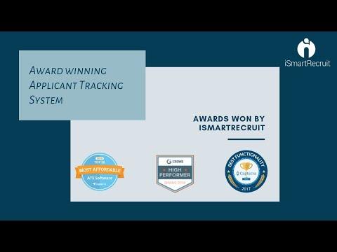 Award winning applicant tracking System  Award Winner   iSmarRecruit