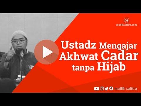 Ustadz Mengajar Akhwat Cadar Tanpa Hijab | Ustadz Muflih Safitra