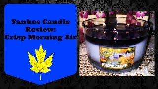 Yankee Candle Review: Crisp Morning Air