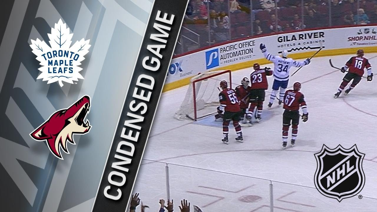 12 28 17 Condensed Game  Maple Leafs   Coyotes - YouTube 693457e10