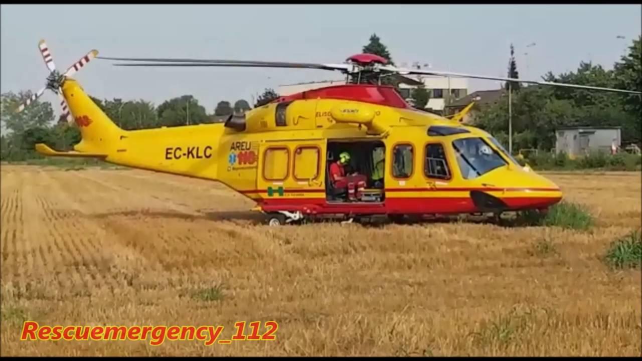 Elicottero Milano : Special] decollo elisoccorso 118 milano take off rescue helicopter