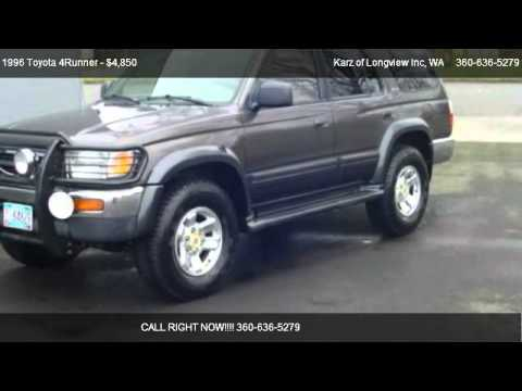1996 toyota 4runner limited 4x4 for sale in longview wa 98632 youtube. Black Bedroom Furniture Sets. Home Design Ideas