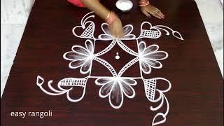 3 dots creative muggulu designs for Beginners | easy rangoli | Simple kolam