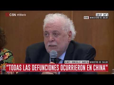 """González García, coronavirus: Argentina está """"preparada para identificarlo si apareciera algún caso"""""""