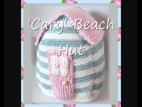 Cary Beach Hut Folk Art Country Cottage Door Stop Or Soft
