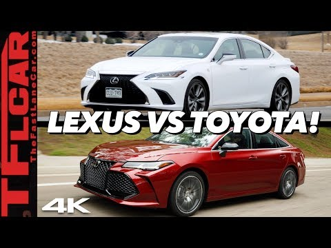 This Is Why The 2019 Lexus ES Costs $5,000 More Than A Toyota Avalon
