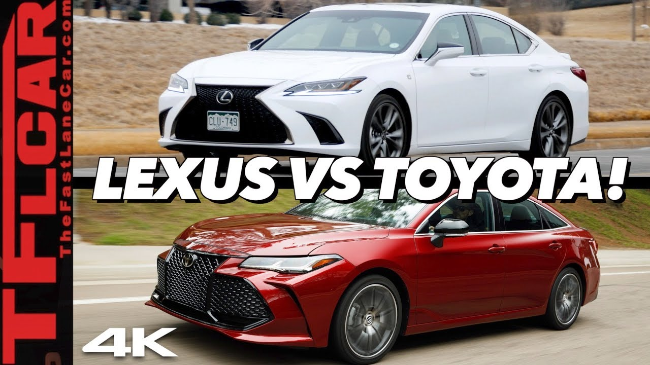 This Is Why The 2019 Lexus Es Costs 5 000 More Than A Toyota Avalon