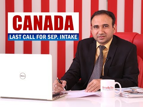 Study in Canada - Last Call for Sept. 2017 INTAKE