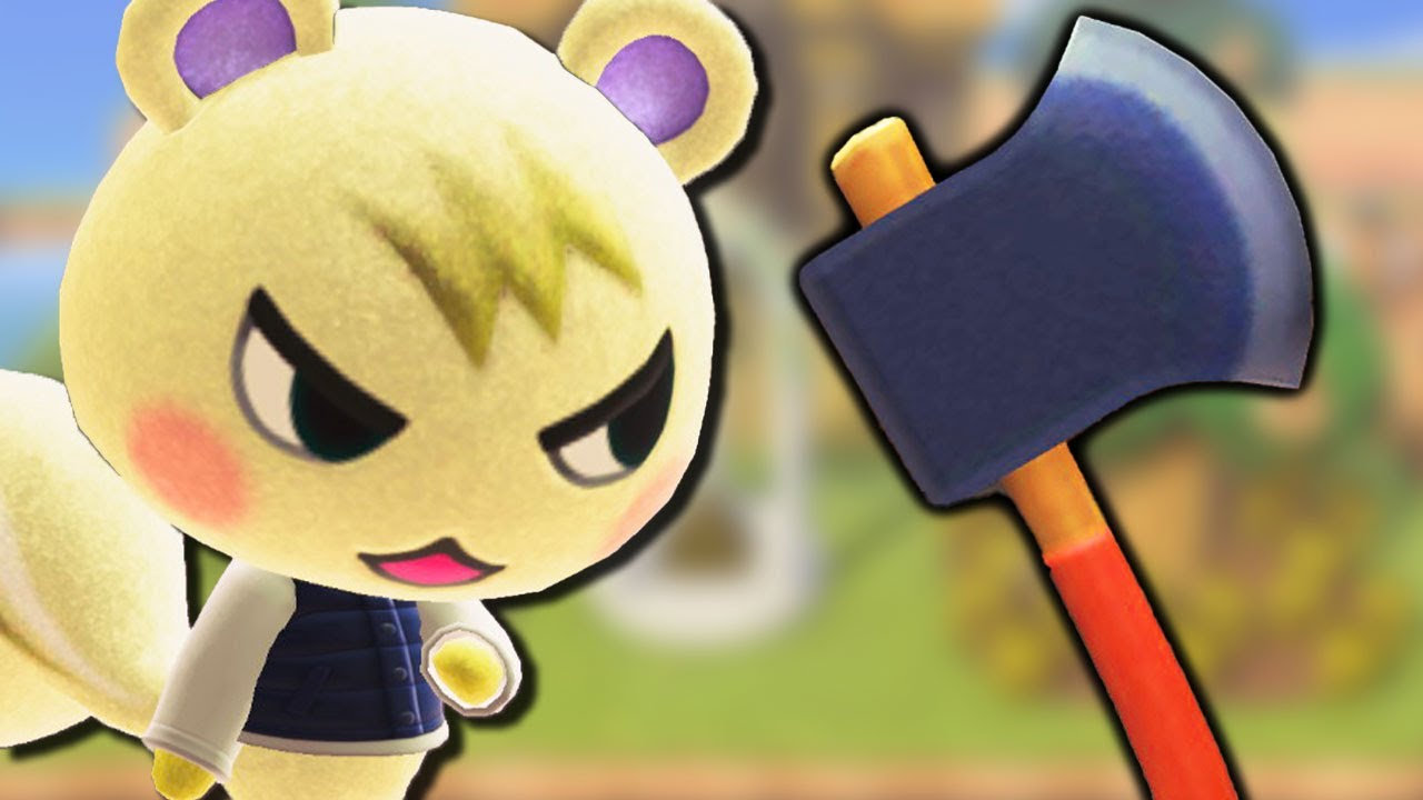When You Give a Villager an AXE in Animal Crossing