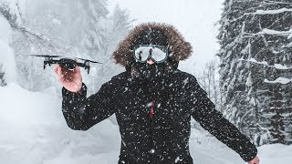DJI MAVIC AIR Freezing snow VLOG test (-12 Degree) | 2.7K 60p and 1080p 120 fps footage