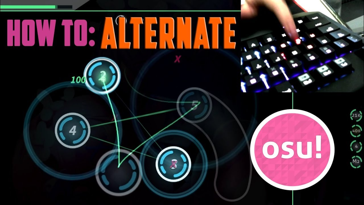 How To: ALTERNATE Tap in Osu [Taps & Jump Faster]