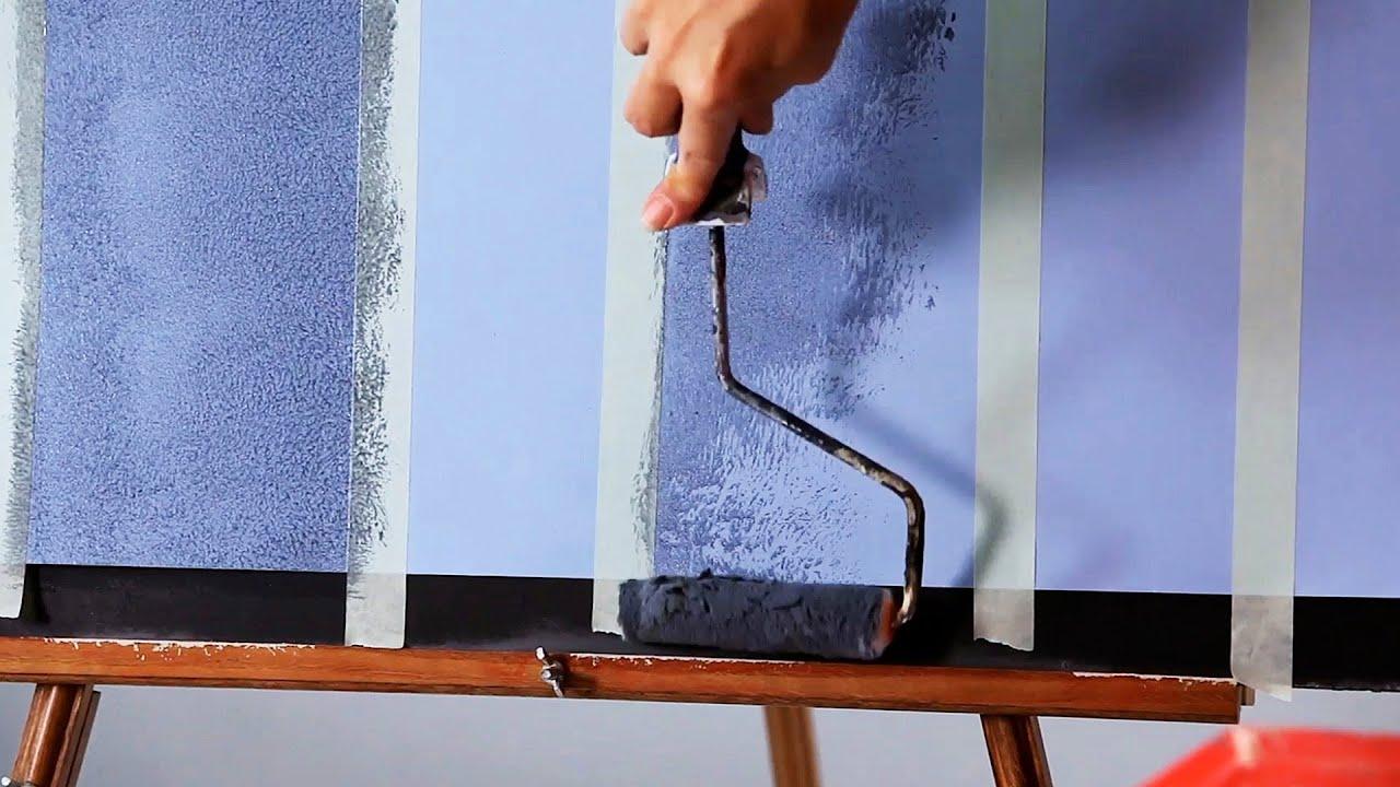 Wall painting techniques stripes - How To Paint Vertical Plaid Stripes Paint Techniques
