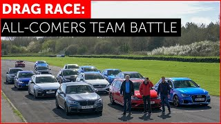 DRAG RACE. RS3, M140i, Golf R, Focus RS, A45 AMG, 130N, Impreza. Hot Hatch Shootout w/ Tiff Needell