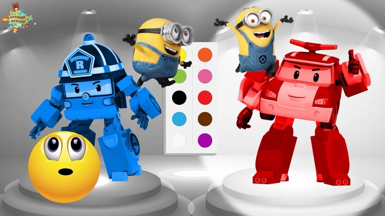 Oyuncak Dünyası 2bölüm Robocar Poli Boyama Oyunu Renkleri öğrenelim