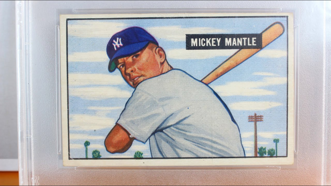 1951 Bowman Mickey Mantle PSA 4 35 Well Centered Rookie Baseball Card