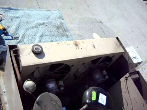 Suprise seized up condenser fan motor on a heatcraft for Walk in cooler motor