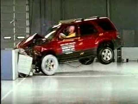 Crash Test 2005 2008 Ford Escape Mercury Mariner Mazda Tribute Frontal Offset Iihs You