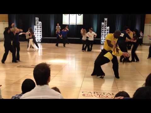 Robert Jackson and Heather Powers dancing westcoastswing