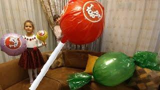 Dev topitop,büyük lolipop, giant chupa chups, eğlenceli çocuk videosu