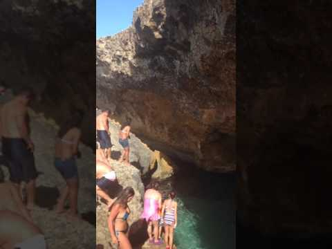 Natural pool at Aruba