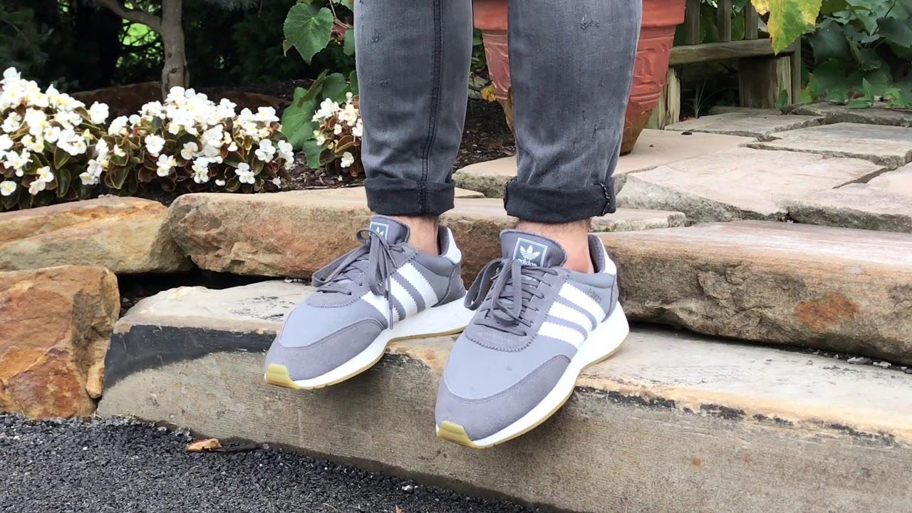 Adidas I-5923 (Iniki) Grey ON FEET