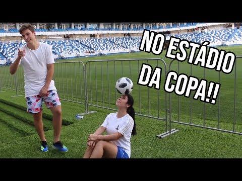 JUNINHO ME DESAFIOU NO ESTÁDIO DA COPA!! ft VOSSO CANAL