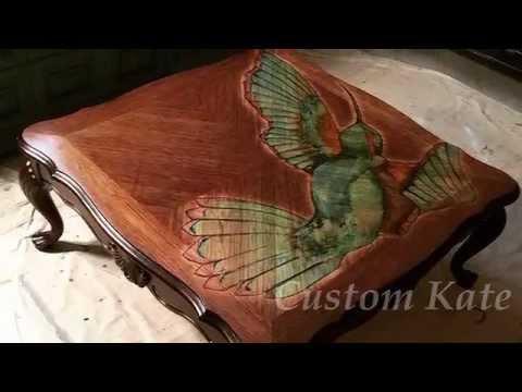 Hummingbird Coffee Table by Custom Kate