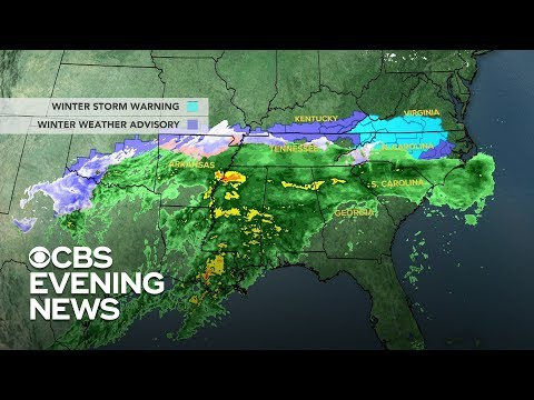Governors in southern states declare emergencies ahead of winter storm