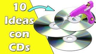 10 Ideas hechas con CDs || Manualidades Recicladas || Ecobrisa