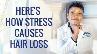 Here's Why Stress Causes Hair Loss💔😩😢