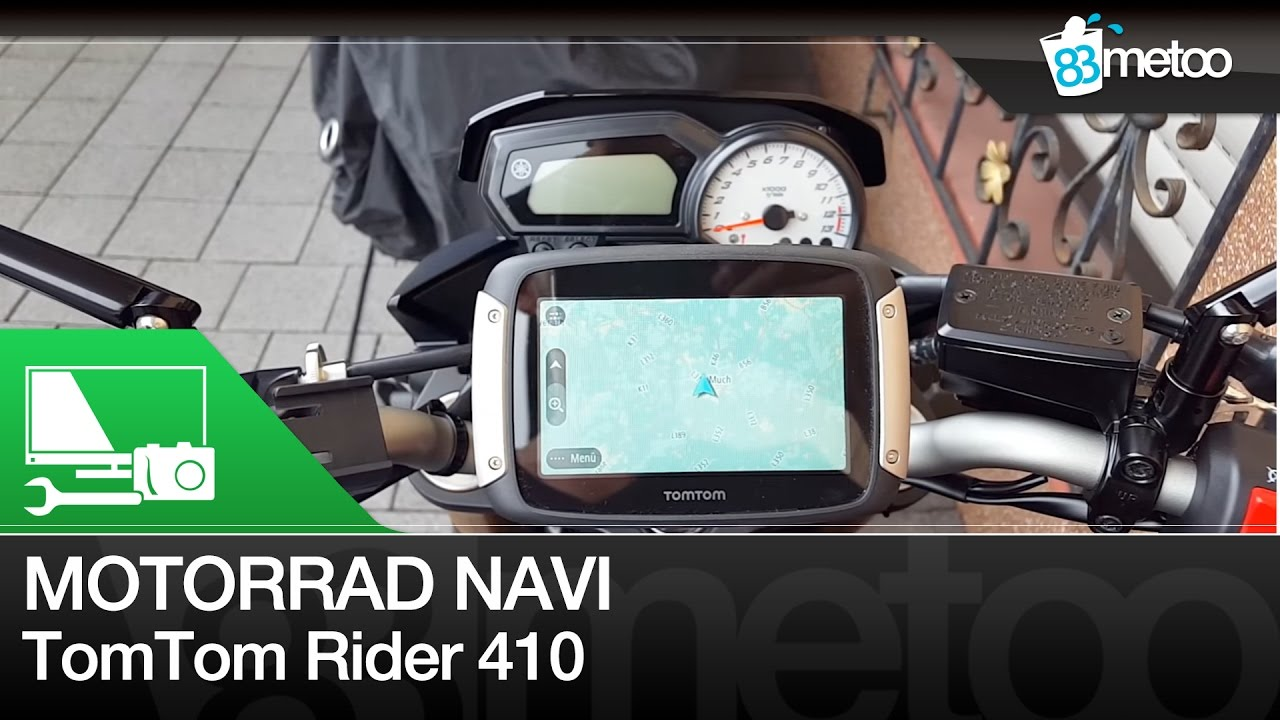 motorrad navi test tomtom rider 410 unboxing montage. Black Bedroom Furniture Sets. Home Design Ideas