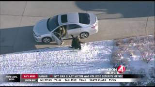 Man carjacks SUV with boy inside, takes cops on 75-mile chase