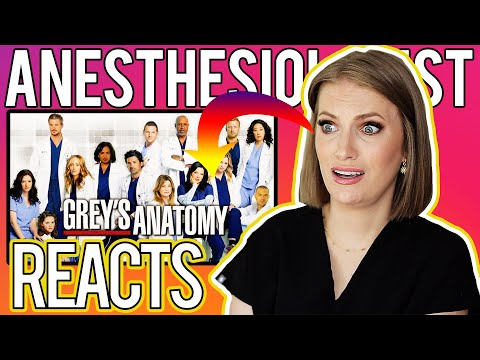 ANESTHESIOLOGIST Doctor REACTS to GREY'S ANATOMY - Medical Drama Review