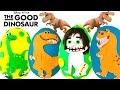 Disney Pixar's THE GOOD DINOSAUR Play Doh Surprise Eggs | Arlo Spot Ramsey Nash Butch |   A