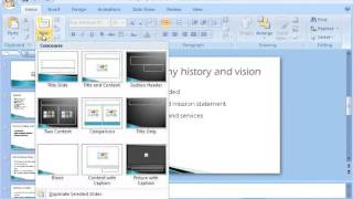 microsoft power point 2007 basic tutorial training video in english