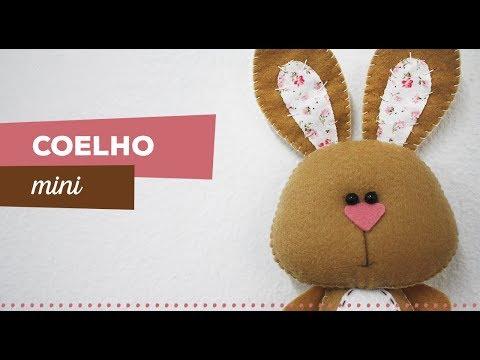 Passo A Passo Coelho Mini Em Feltro Ateliê Linna Youtube