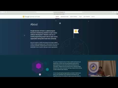 Image from Lightning talks: Google Summer of Code