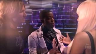 Nicki Minaj Crying after Idol Elimination Burnell Taylor