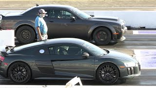 Muscle cars vs Supercars  Domestic vs Import - drag racing