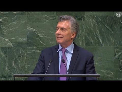 El presidente Mauricio Macri expone ante la 73 Asamblea General de las Naciones Unidas