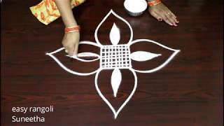 Latest  rangoli kolam || simple muggulu by Suneetha || Beautiful designs with out dots