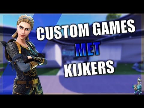 FORTNITE nederlands  CUSTOM MATCH MAKING met kijkers (TeamEpicNegen) TEN | BATTLE ROYALE