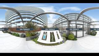 The Grand Outdoor Amenities at  Sky View Parc 360° Video