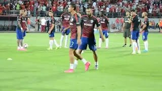 Cristiano ronaldo gets angry when some fans shouting him messi messi