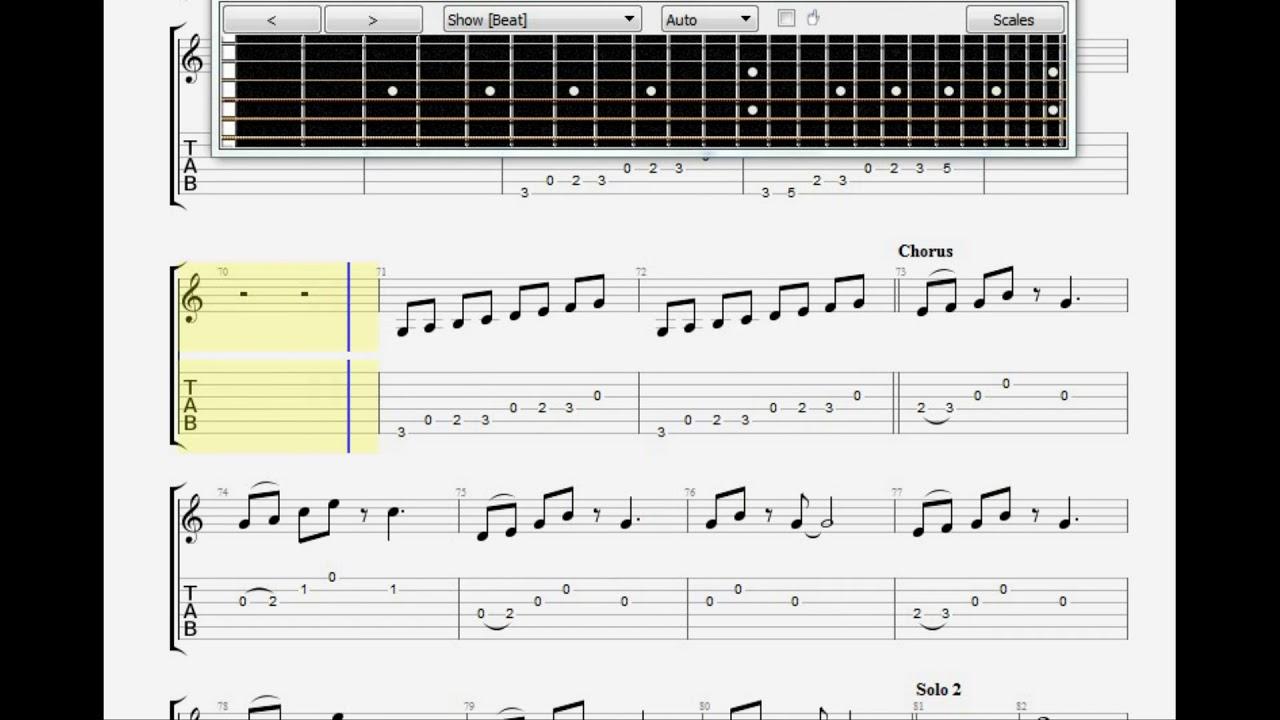 155   Amber Guitar Tab Guitar 15