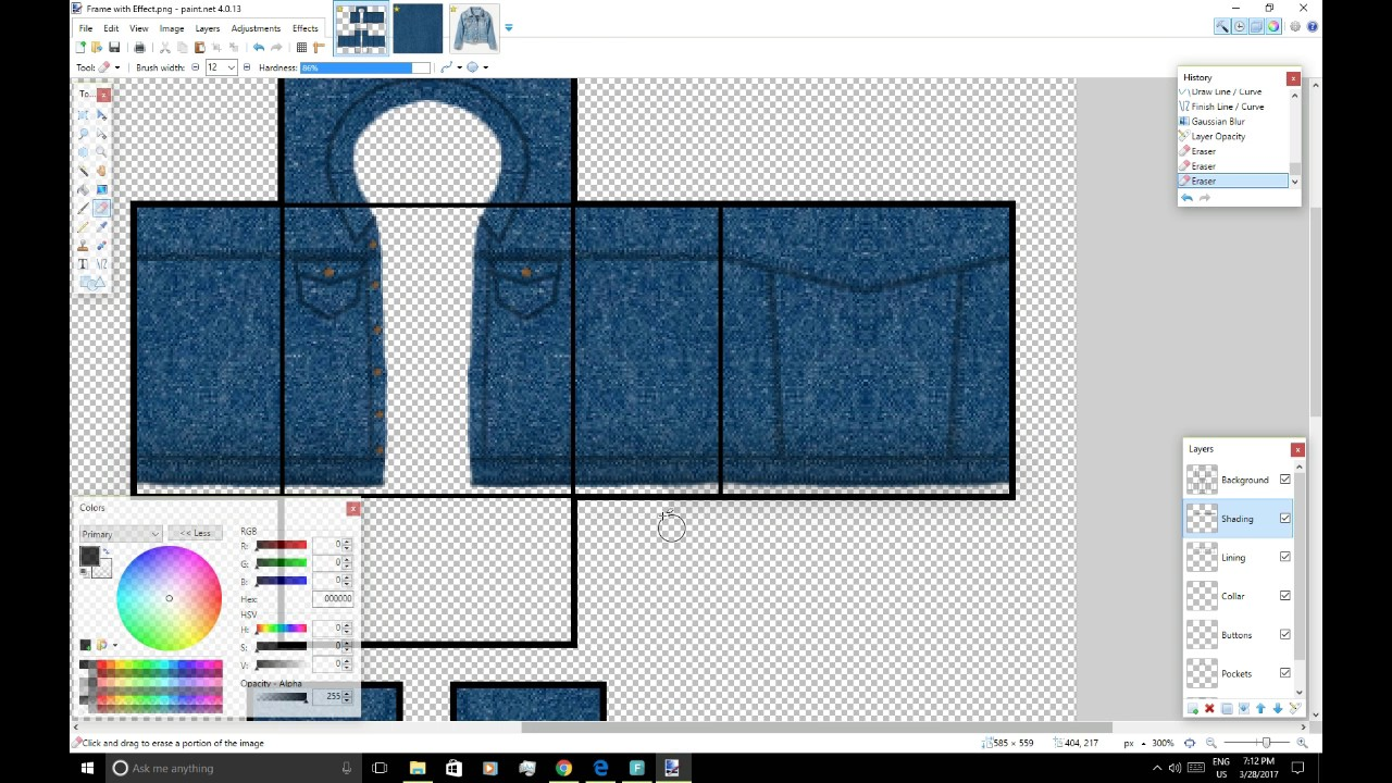 how to create a detailed denim jacket roblox youtube
