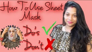 How To Use Sheet Mask On Face Sheet Mask Do s and Don t